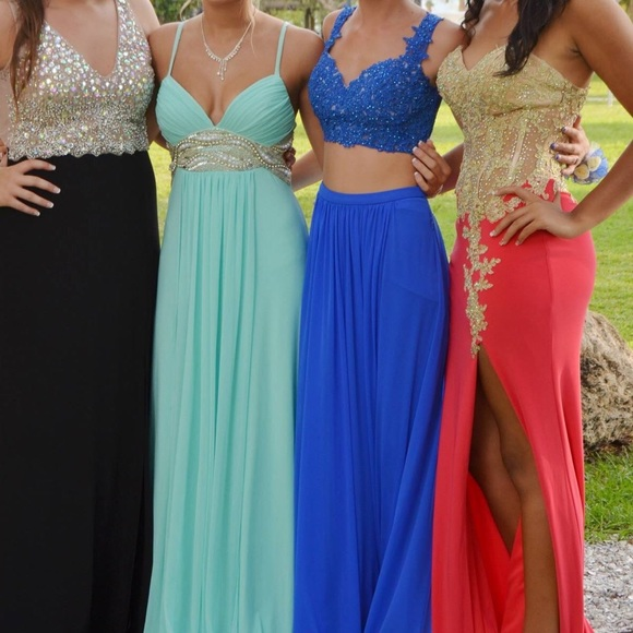 Sherri Hill Dresses | Two Piece Electric Blue Prom Dress | Poshmark